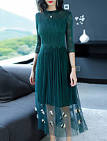 cheap -SHYSLILY Women's Basic / Elegant Sheath Dress - Solid Colored / Floral