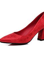 economico -Per donna Scarpe Raso Primavera Comoda scarpe da sposa Quadrato Rosso / Matrimonio