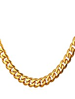 cheap -Men's Link / Chain Chain Necklace - Stainless Steel Trendy, Rock, Fashion Gold, Black, Silver 55 cm Necklace 1pc For Gift, Daily