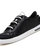 Недорогие -Муж. Полиуретан Осень Удобная обувь Кеды Белый / Черный
