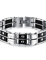 cheap -Men's Stylish Bracelet - Titanium Steel Creative Fashion Bracelet Black For Daily / Date