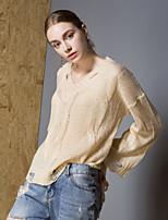 Недорогие -Жен. Активный Пуловер - Однотонный, С отверстиями / С прорезями / Разорванный
