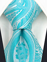 cheap -Men's Party / Work Necktie - Solid Colored / Paisley / Jacquard
