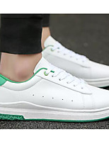 Недорогие -Муж. Комфортная обувь Полиуретан Весна Кеды Белый / Черно-белый / Wit En Groen