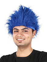 billiga -Syntetiska peruker / Kostymperuker Rak Burgundy Bob-frisyr Syntetiskt hår 12 tum Cosplay / Party / Utsökt Röd / Burgundy Peruk Herr / Dam Korta Maskingjord Stor