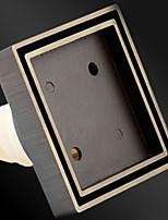 Недорогие -Слив Новый дизайн / Cool Современный Латунь 1шт истощать Установка на полу