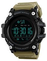 Недорогие -SKMEI Муж. Спортивные часы электронные часы Цифровой 50 m Защита от влаги Bluetooth Календарь PU Группа Цифровой Роскошь На каждый день Черный / Синий / Красный - Синий Хаки Камуфляж Зеленый
