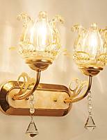 cheap -Crystal / Creative Retro / Vintage / Novelty Wall Lamps & Sconces Dining Room / Indoor / Shops / Cafes Metal Wall Light IP 44 220-240V 40 W