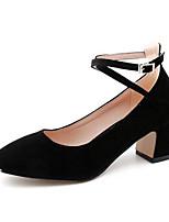 abordables -Femme Chaussures de confort Daim Printemps Chaussures à Talons Talon Bottier Noir / Gris / Rose