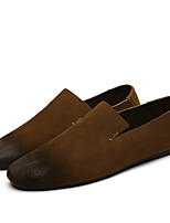 cheap -Men's Suede Spring Moccasin Loafers & Slip-Ons Black / Brown