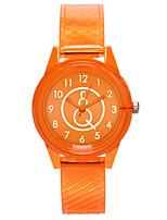 cheap -Women's Wrist Watch Quartz Casual Watch Plastic Band Analog Fashion Minimalist Black / White / Red - Red Green Pink