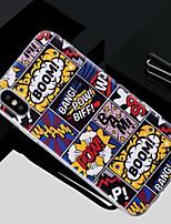 Недорогие -Кейс для Назначение Apple iPhone X / iPhone 8 Полупрозрачный / С узором Кейс на заднюю панель Слова / выражения Мягкий ТПУ для iPhone X / iPhone 8 Pluss / iPhone 8