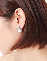 economico -Per donna 3D Orecchino - Ridere, Fortunato Dolce, stile sveglio Bianco e argento Per Per eventi / Per uscire