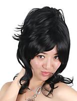Недорогие -Парики из искусственных волос / Маскарадные парики Кудрявый Золотистый Стрижка боб Искусственные волосы 16 дюймовый Косплей / Удобный / Для европейских Золотистый / Черный Парик Жен. Средняя длина