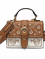 cheap -Women's Bags PU(Polyurethane) Shoulder Bag Buttons Brown