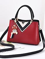 cheap -Women's Bags PU(Polyurethane) Tote Zipper Blushing Pink / Gray / Khaki