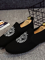 cheap -Men's Comfort Shoes Canvas Spring & Summer Casual Loafers & Slip-Ons Black / Gray / Black and White