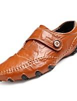Недорогие -Муж. Комфортная обувь Полиуретан Осень Туфли на шнуровке Черный / Коричневый