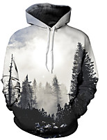 cheap -Men's Basic Hoodie - 3D, Print