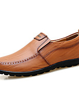cheap -Men's Nappa Leather / Cowhide Spring & Summer Casual Loafers & Slip-Ons Color Block Black / Light Brown / Dark Brown