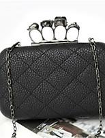 cheap -Women's Bags PU(Polyurethane) Shoulder Bag Buttons Black