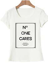 cheap -Women's Basic T-shirt - Geometric / Letter Print