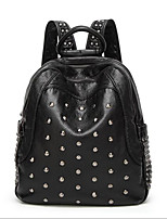 Недорогие -Жен. Мешки PU рюкзак Заклепки Черный