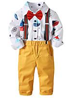 Недорогие -Дети / Дети (1-4 лет) Мальчики Однотонный / С принтом Длинный рукав Набор одежды