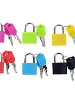 abordables -1pc fort cadenas en acier voyage minuscule valise serrure avec 2 clés au hasard