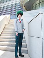 economico -Ispirato da My Hero Battaglia Academy For All / Boku no Eroe Academia Midoriya Izuku Anime Costumi Cosplay Abiti Cosplay Tinta unita / Manga Cappotto / Maglietta / Pantaloni Per Per uomo