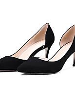 Недорогие -Жен. Замша Весна Туфли лодочки Обувь на каблуках На шпильке Черный / Зеленый