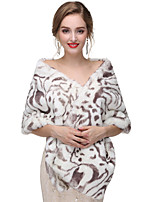 cheap -Sleeveless Faux Fur Wedding / Party / Evening Women's Wrap With Printing Capelets