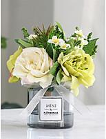 Недорогие -Искусственные Цветы 1 Филиал Классический / Односпальный комплект (Ш 150 x Д 200 см) Стиль Пионы Букеты на стол