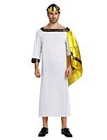 Недорогие -Египетские костюмы Костюм Муж. Хэллоуин Карнавал Маскарад Фестиваль / праздник Костюмы на Хэллоуин Инвентарь Белый Однотонный Halloween Хэллоуин
