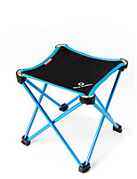 cheap -BEAR SYMBOL Camping Stool Outdoor Lightweight, Rain-Proof, Breathability Oxford Cloth, 7075 Aluminium, Aluminium for Fishing / Hiking / Camping - 1 person Blue / Orange