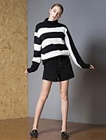 billige -Dame Aktiv Pullover - Stribet / Farveblok
