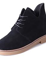 billiga -Dam Fashion Boots PU Höst Brittisk Stövlar Låg klack Rundtå Korta stövlar / ankelstövlar Svart / Grå / Gul