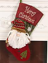 baratos -Meias Finas / Enfeites de Natal Férias Não-Tecelado Quadrada Novidades Decoração de Natal