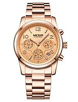cheap -MEGIR Women's Dress Watch Wrist Watch Japanese Quartz 30 m Water Resistant / Water Proof Calendar / date / day Chronograph Stainless Steel Band Analog Fashion Elegant Black / Gold - Gold Silver