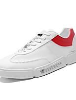 Недорогие -Муж. Полиуретан Осень Удобная обувь Кеды Белый / Красный / Черно-белый