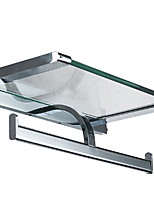 Недорогие -Держатель для туалетной бумаги Новый дизайн / Cool Modern стекло / Нержавеющая сталь / железо 1шт Держатели для туалетной бумаги На стену