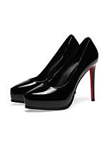 Недорогие -Жен. Балетки Лакированная кожа Весна Обувь на каблуках На шпильке Черный / Красный