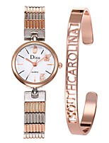 baratos -Mulheres Relógio Elegante Bracele Relógio Quartzo 50 m Criativo Aço Inoxidável Banda Analógico Elegante Prata - Preto Prata Branco / Dourado Um ano Ciclo de Vida da Bateria