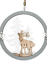 abordables -Décorations de Noël Vacances En bois Rond Nouveautés Décoration de Noël