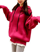 cheap -Women's Basic Hoodie - Solid Colored