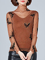 cheap -women's going out t-shirt - animal turtleneck