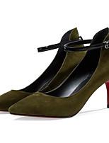 Недорогие -Жен. Обувь Замша Весна Туфли лодочки Обувь на каблуках На шпильке Черный / Военно-зеленный