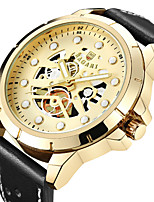 cheap -Men's Sport Watch Wrist Watch Japanese Quartz Hollow Engraving Casual Watch Cool Genuine Leather Band Analog Luxury Fashion Black / Brown - Gold / Black Black / White Black / Rose Gold
