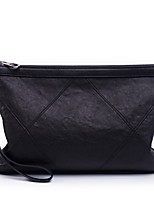 cheap -Unisex Bags Sheepskin Clutch Zipper Black