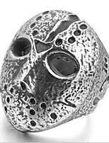 abordables -Homme Stylé Sculpture Bague - Acier au titane Masque Elégant, Original, Branché 8 / 9 / 10 / 11 / 12 Argent Pour Plein Air Soirée